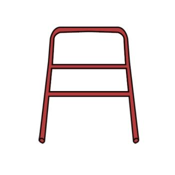 RUBFG7909L1RED - Rubbermaid - 7909-L1 - Red Handle with CrossBar Product Image