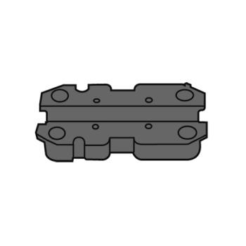RUBFG7912L2BLACK - Rubbermaid - 7912-L2 - Adapter Block with T-Nuts - Black Product Image