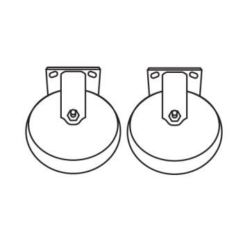RUBFG7931L30000 - Rubbermaid - 7931-L3 - 6 in Rigid Casters Product Image