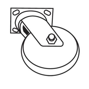 RUBFG7932L20000 - Rubbermaid - 7932-L2 - 8 in Swivel Caster Product Image
