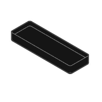 RUBFG9T57L4BLA - Rubbermaid - 9T57-L4 - Black Shelf without Tool Holder Product Image