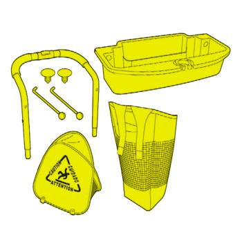 RUBFGQ925L3YEL - Rubbermaid - Q925-L3 - Yellow Conversion Kit for Q920 Product Image