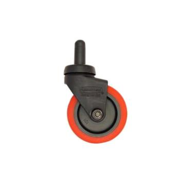 35157 - Rubbermaid - 7580-L2 - Red Wave Brake Quiet Caster Product Image