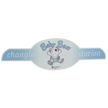 69182 - Koala - 598 - Oval Changing Station Baby Bear Label Product Image