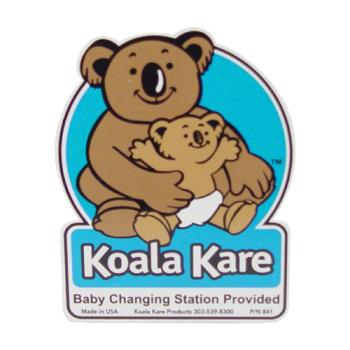 69157 - Koala - 841 - 4 in x 4 1/2 in Changing Station Restroom Door Plaque Product Image