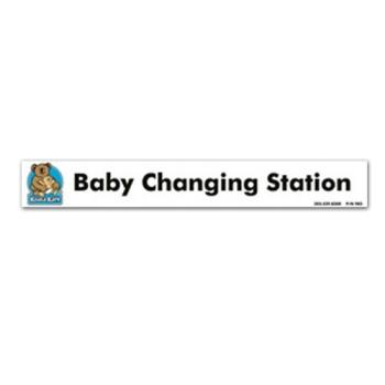 KOA983 - Koala - 983 - Baby Changing Station Plaque Label Product Image