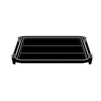 RUBFG9T36L2BLA - Rubbermaid - 9T36-L2 - Black Xtra Middle Shelf Product Image