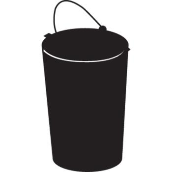 RUBFG2586L1BLA - Rubbermaid - 2586-L1 - Black Smoking Urn Metal Liner with Bail Product Image
