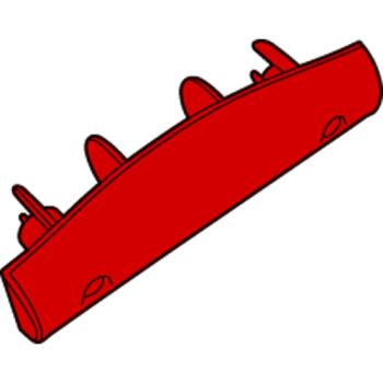 RUBFG2643L1RED - Rubbermaid - 2643-L1 - Brute® Container Replacement Soft Grip Handle - Red Product Image