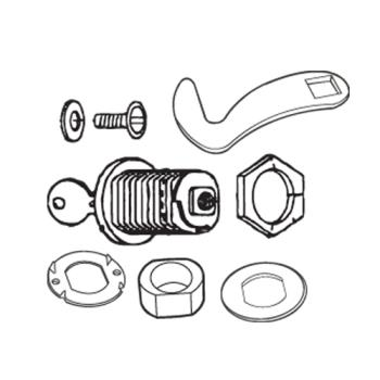35148 - Rubbermaid - 3964-L6 - Plaza® Container Lock Key Kit Product Image