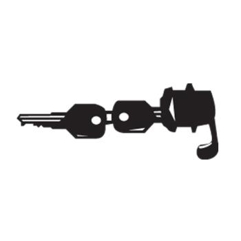 RUBFG3970L40000 - Rubbermaid - 3970-L4 - Landmark Series® Container Lock With Keys Product Image