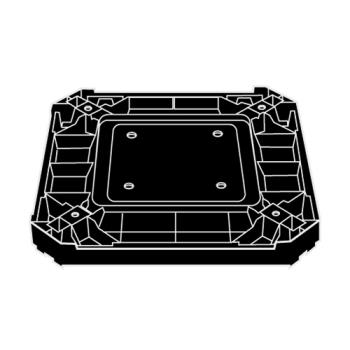 RUBFG3975L2BLA - Rubbermaid - 3975-L2 - Landmark Series® Black Container Base Product Image