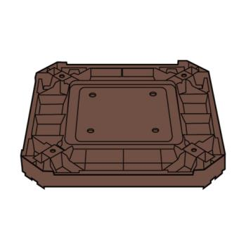 RUBFG3975L2DWOOD - Rubbermaid - 3975-L2 - Landmark Series® Driftwood Container Base Product Image