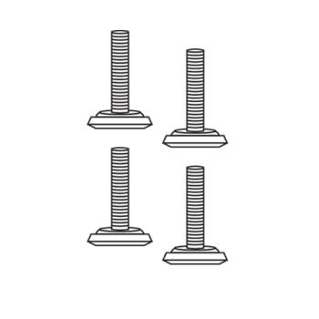 RUBFG3979L10000 - Rubbermaid - 3979-L1 - Landmark Series® Container Leveling Feet Product Image