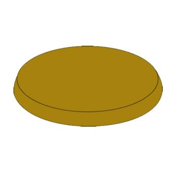 RUBFG9W34L1AGBRNZ - Rubbermaid - 9W34-L1 - Bronze Ultra High Cap Domed Cap Product Image