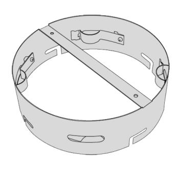 RUBFG9W34L4SILV - Rubbermaid - 9W34-L4 - Silver Ultra High Cap Snuff Ring Product Image