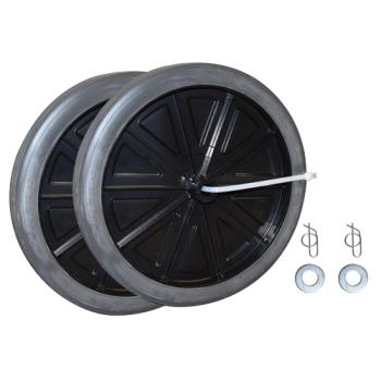 35160 - Rubbermaid - FG9W71L2BLA - 12 in Diameter Black Wheel Kit Product Image