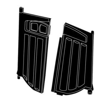 RUBFG9W71L6BLA - Rubbermaid - 9W71-L6 - Black Doors with Latch Product Image