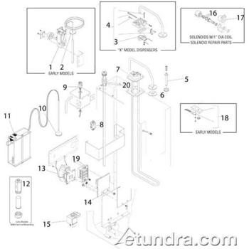 - Bunn - H5X-10-208 - Bunn H5X Hot Water Dispenser Series Parts Product Image