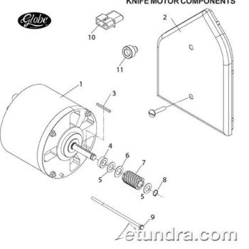 - Globe - Globe 3600P/3850P/3975P Slicer Knife Motor Parts Product Image
