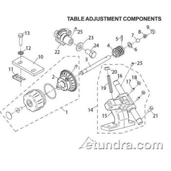 - Globe - Globe 3600P/3850P/3975P Slicer Table Adjustment Parts Product Image