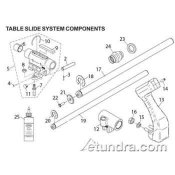 - Globe - Globe 3600P/3850P/3975P Slicer Table Slide System Parts Product Image