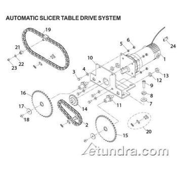 - Globe - Globe 3850P & 3975P Automatic Slicer Table Drive Parts Product Image