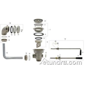- Lever and Rotary Drain Parts Product Image