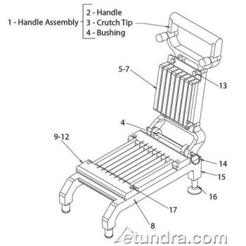 - Nemco Chicken Slicer Parts Product Image