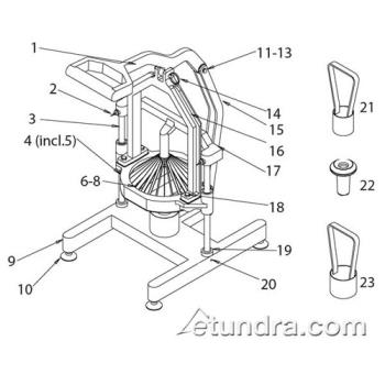 - Nemco Easy Flowering Onion™ Cutter Parts Product Image