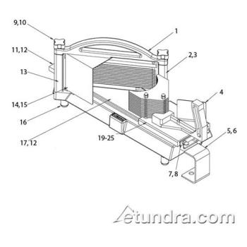 - Nemco Easy Tomato Slicer II™ Parts Product Image