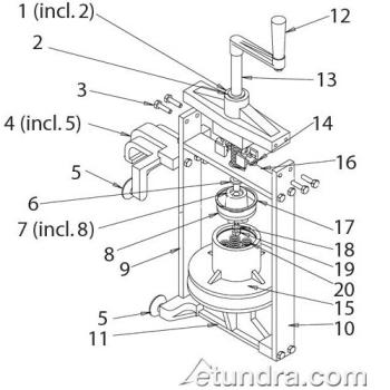 - Nemco Easy Tuna Press Parts Product Image