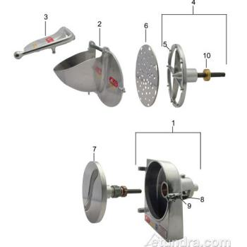 - Shredder/Grater Attachment and Parts No. 12 Hub Product Image