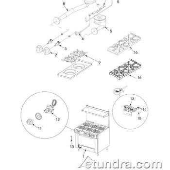 - Southbend 336D Range Parts Product Image