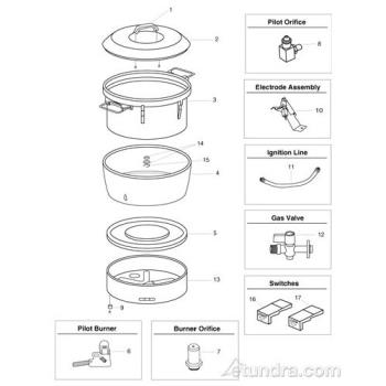 - Town Rice Cooker Parts Product Image
