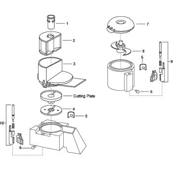68559 - Robot Coupe - 29260 - Cutter Bowl Pin Assembly Product Image