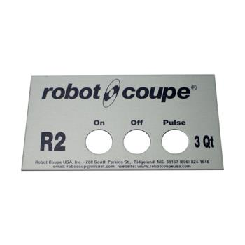 ROB407669 - Robot Coupe - 407669 - Front Data Plate - 3 Qt Product Image