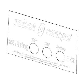 ROB407902 - Robot Coupe - 407902 - Front Data Plate Product Image