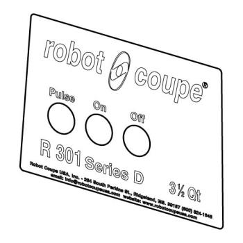 ROB408016 - Robot Coupe - 408016 - Front Plate Product Image