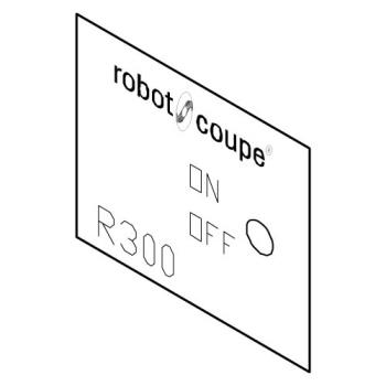 ROB410124 - Robot Coupe - 410124 - Front Data Plate Product Image
