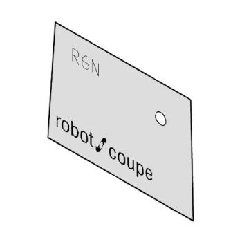 ROBR612N - Robot Coupe - R612N - Front Data Plate Product Image