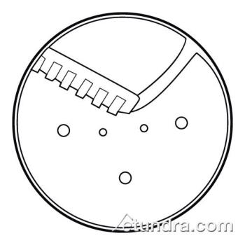 "WAR032525 - Waring - 032525 - 1/8"" x 1/8"" Julienne Disc  Product Image"