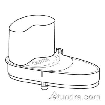 WAR502293 - Waring - 502293 - Half Circle shaped Continuous Feed Cover Assembly Product Image
