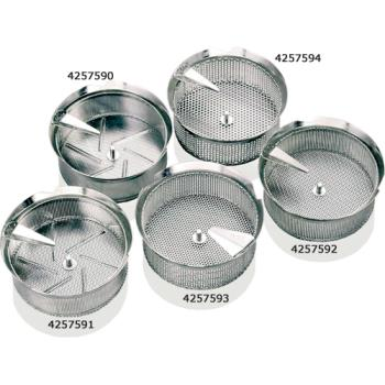 "WOR4257490 - World Cuisine - 42574-90 - #5 1/32"" Stainless Food Mill Sieve Product Image"