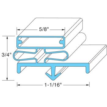 "25204 - Beverage Air - 703-814B - 52"" Gasket Product Image"