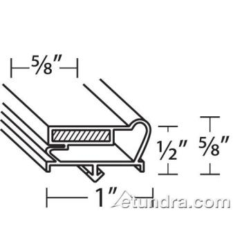 25405 - Beverage Air - 712-013C07 - 18 3/4 in x 33 1/8 in 4-Sided Magnetic Door Gasket Product Image