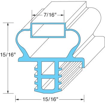 25348 - Delfield - 1701185 - 23 7/8 in x 24 7/8 in 4-Sided Magnetic Door Gasket Product Image
