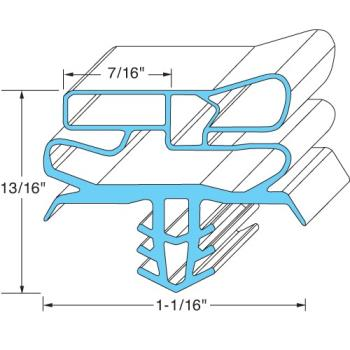 "741124 - Delfield - 1701289 - 24"" X 29 15/16"" Door Gasket Product Image"