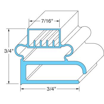 "25212 - Delfield - 1702004 - 24 3/4"" x 27 1/4"" Door Gasket Product Image"