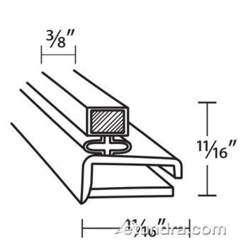25254 - Delfield - 1702008 - 9 1/4 in x 21 1/4 in 4-Sided Magnetic Drawer Gasket Product Image